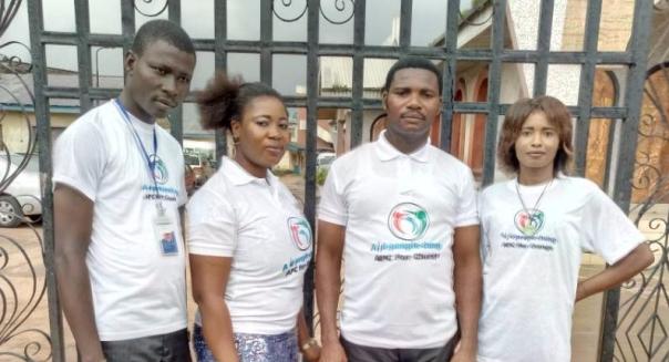 Left: Moses ,Osaretin Emwin, Mr Famous,