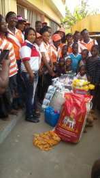 Orphans from Aid People Change Naija, received aliments from Blessed Betters Christian Group